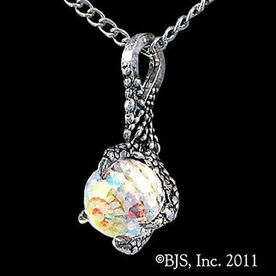 THE HOBBIT Official Sterling Silver ARKENSTONE NECKLACE, Smaug Dragon Claw LOTR