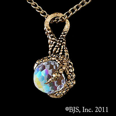 Lord of the Rings HOBBIT Official 14k Gold ARKENSTONE NECKLACE Smaug Dragon Claw
