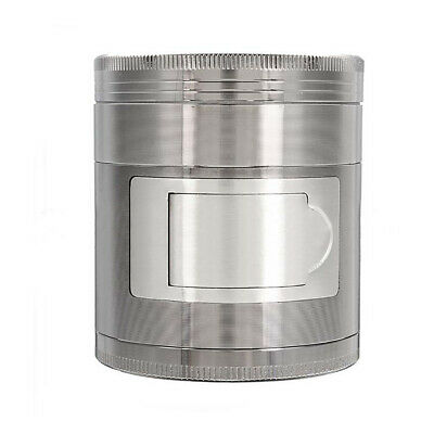 Useful Multi Functional 63mm 4 Layers Zinc Alloy Metal Herb Grinder Crusher GIL