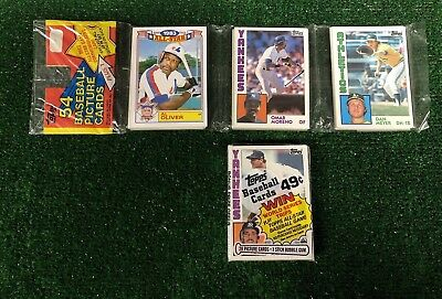 LOT OF (2) 1984 TOPPS BASEBALL UNOPENED CELLO & RACK PACK BOTH w/ MATTINGLY RC!!