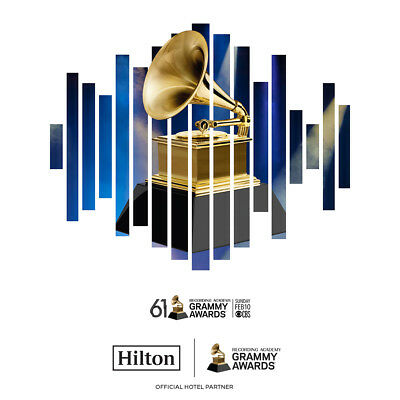 GM Two (2) 61st GRAMMY® Awards Tickets + Hilton Hotel + GRAMMY Museum Passes