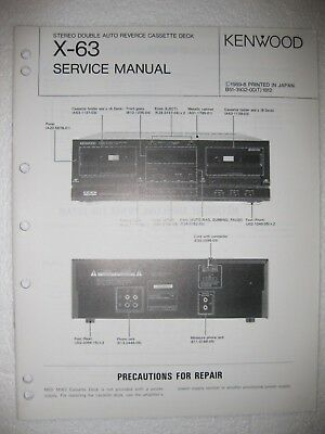 KENWOOD STEREO CETTE Deck KX-9010 Service-Manual ... on