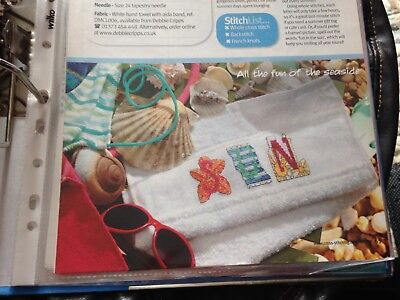 3def7871d Cross Stitch Chart Seaside Themed Alphabet Charts Beach Letters Charts