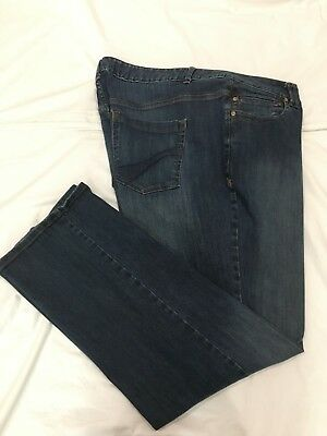 (*.*) LANE BRYANT * Womens GENIUS FIT STRAIGHT Blue Jeans * Plus Size 26