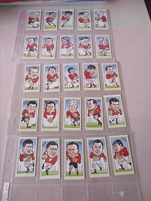 Rugby Union Welsh Rugby Legends Complete set of 25 cards by WPL Systems