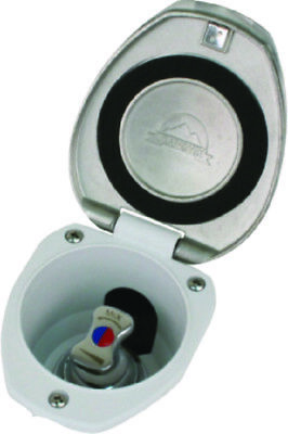 MagiDeal Recessed Transom Shower Lid//Cup for RV Boat Marine 97014DSSP