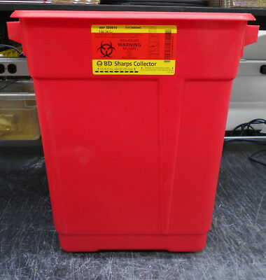 3D 306615 9 Gallon Sharps Containers W/ Clear Hinge Top 8/bx