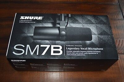 Shure SM7B Dynamic Wired Professional Vocal Broadcast Microphone podcast New