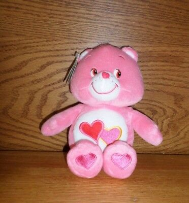 NWT MINT  love a lot Care Bear 10""