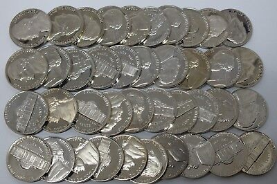 1963 5C Proof Jefferson Roll 40 Coins In Mint Cellophane