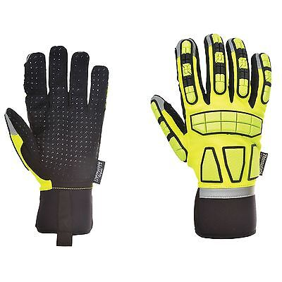 Portwest Safety Impact Gloves Oil & Water Resistant Lined Safety Workwear A725