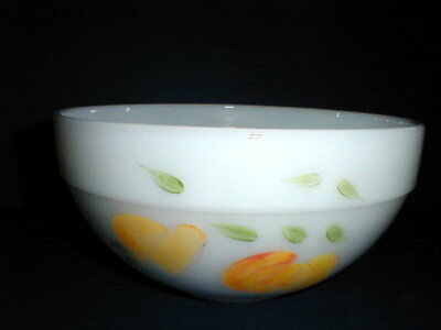 "Anchor Hocking Glass Fire King Colonial Kitchen Gay Fad Fruit 8 5/8"" Bowl"