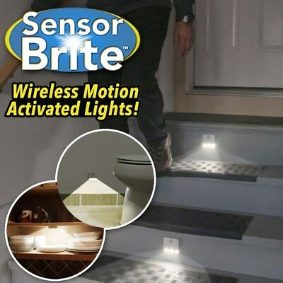 Sensor Brite Motion Activated LED Indoor Lights Stair Light 2Pack As Seen On TV