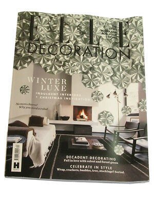 Elle decoration. Interior Design Magazine. December 2015. One issue.