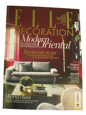 Elle decoration. Interior Design Magazine. November 2017. One issue.