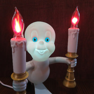 1996 Casper the Friendly Ghost Candelabra Light Up Candles and Eyes Halloween