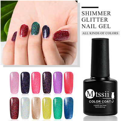7ml MTSSII Starry Sequin Glitter UV Gel Nail Polish Soak Off Varnish Manicure