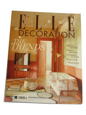 Elle decoration. Interior Design Magazine. February 2018. One issue.