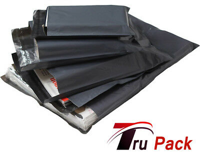 100 Large Mixed Grey Mailing Postal Bags 55mu 25 Each Of 13x19 14x16 16x21 17x24
