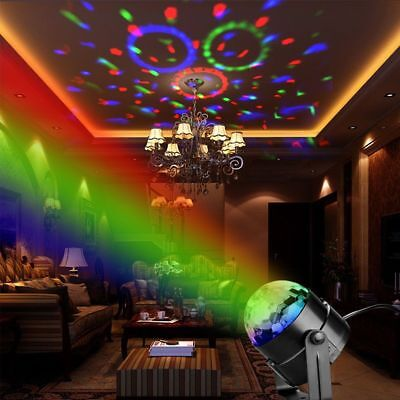 Ball Sound Active USB Projector RGB KTV LED Lamp Stage Light DJ Club Disco