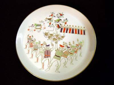 "Shenango China 1973 Twelve Days of Christmas Plate ""Ten Lords A-Leaping"" Dick Li"
