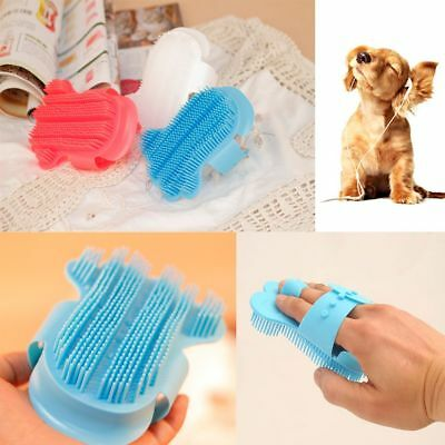 Bath Comb Rubber Horse Cleaner Dog Grooming Gloves Pet Brush Hair Remover