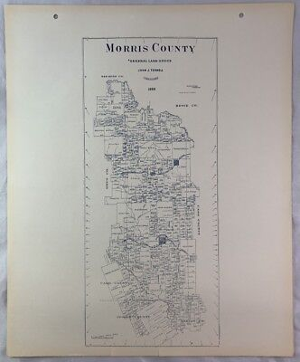 Antique General Land Office Map Morris County Texas Showing Plats ++