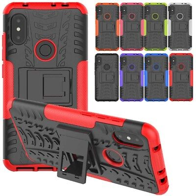 Heavy Duty Armour Shock Proof Hard Case Cover Stand for Xiaomi Redmi Note 6 Pro