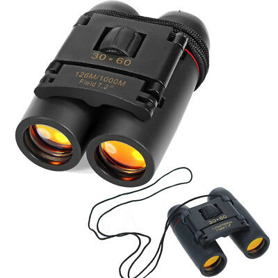 Binoculars 30x60 Compact Folding Adult Children For Bird Watching Hunting Theate