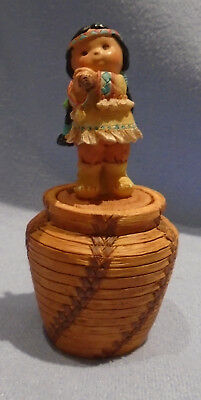 """Enesco Friends Of The Feather 1995 """"responsibility"""" Indian Pot #171778"""