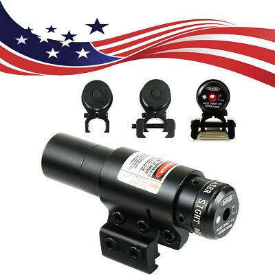 650nm Red Laser Sight w/ Scope Cliper 11mm/20mm Rail For Bow/Rifle Crossbow US