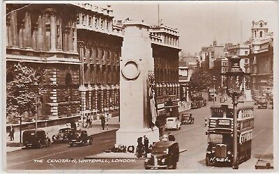 RPPC The Cenotaph, Whitehall, London - Used - date stamp 1953