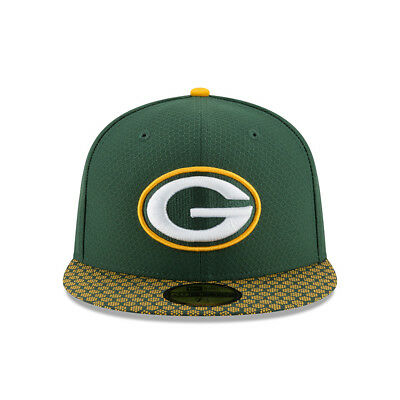 New Era 2017 Green Bay Packers 59Fifty Fitted Hat Sideline Cap NFL On Field ceb8f10f6705