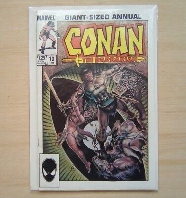 Conan The Barbarian Giant Sized Annual #10 Marvel Comics  1986