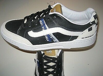 Vans Mens Highland Construct Black White Leather Skate shoes Size 6.5 NWT 597832d80