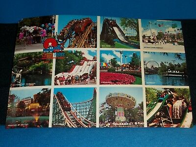 Cedar Point - Photo Postcard With 1988 First Day Stamps (4) Cancelled