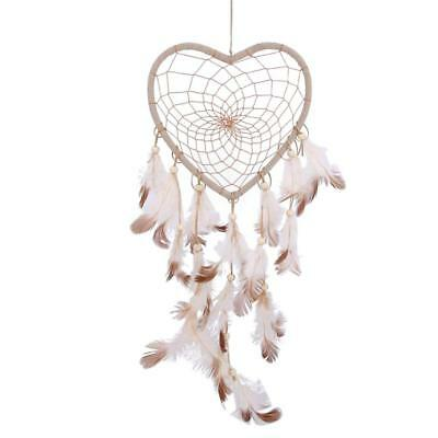 14.5/'/' Heart-shaped Dream Catcher Feathers Wall Hanging Decoration Ornament Gift