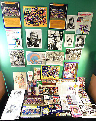 Los Angeles Rams 200+ collectibles 60s-90s Popsicle Coke photos logos Dickerson