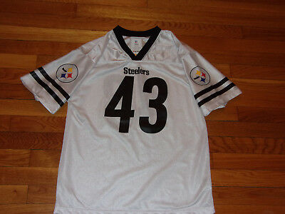 60bb79f52 Nfl Pittsburgh Steelers Troy Polamalu Football Jersey Boys X-Large 18-20  Exc.