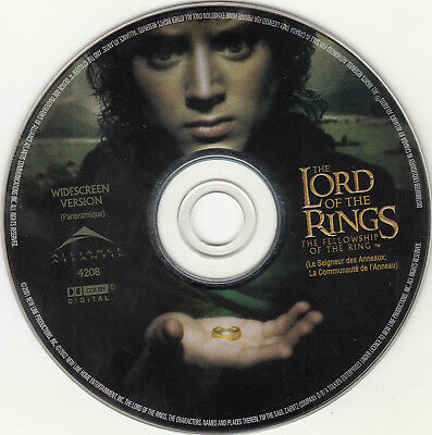 The Lord of the Rings: The Fellowship of the Ring DVD, 2002 Widescreen DISC ONLY