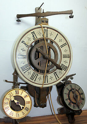Lot of 3 Galileo clocks 2 normal and one gigantic