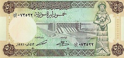 Syria 1991 50 Pounds Currency Unc