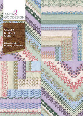 Anita Goodesign Embroidery Machine Design CD Crazy Stitch Quilt