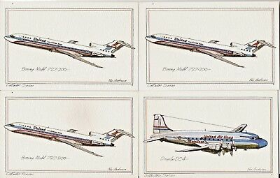 Lot Of 10 Collector Series Aircraft Roy Andersen Illustrator Postcards 1973-1974