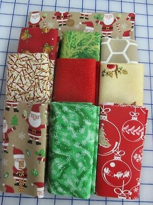 Adorable Santa Theme Christmas Disappearing 9 Patch Quilt Top Kit