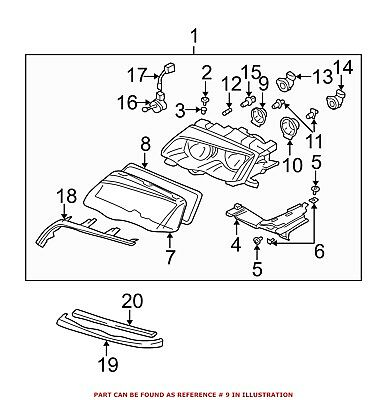 For Bmw Genuine Headlight Washer Hose Front 61677187524