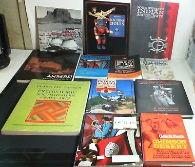 12 Books on Native American Indians of the Southwest US, Arts, Crafts, Culture +