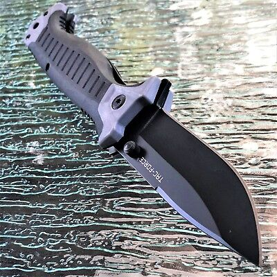 Tac Force Spring Assisted Tactical Gray Pocket Knife Open Folding Blade Military