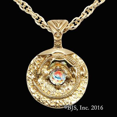 THE HOBBIT Official SMAUG THE GOLDEN NECKLACE, Brass and Crystal Arkenstone LOTR