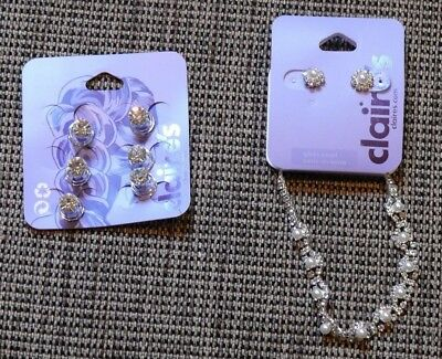 Job Lot CLAIRE'S ACCESSORIES Hair Pins Earrings Bracelet New